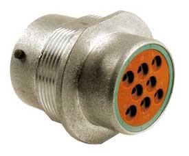 250VDC No Box 25A Lot of 6 Deutsch HD34-18-8PN Receptacle 8-Pin